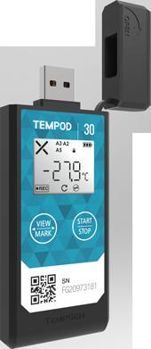 Temperature Data Logger Tempsen Tempod 30